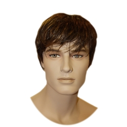 Medium Brown Male Wig from www.zingdisplay.com