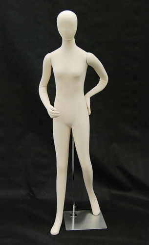 Flexible Female Mannequin Fully Posable Jersey Covered from www.zingdisplay.com
