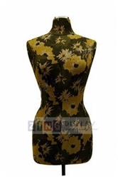 Ladies' Black & Gold Torso Form