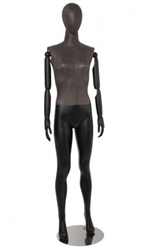 Distressed Leather-Like Mixed Fabric Mannequin Bendable Arms