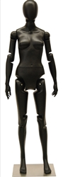 Posable Female Mannequin Matte Black