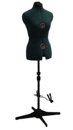 Fully Adjustable Female Sewing Dress Form - Green