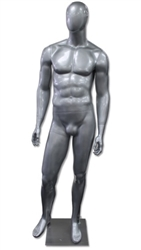 Kirby Egghead Male Mannequin Glossy Silver