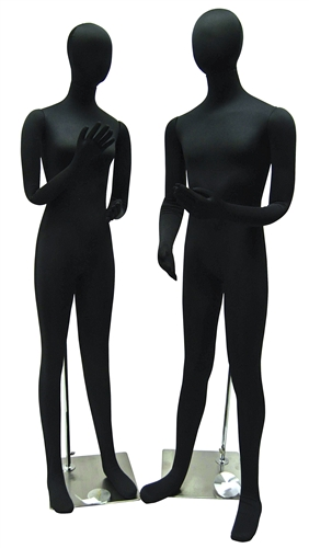 Economical Flexible Mannequin Couple in Black