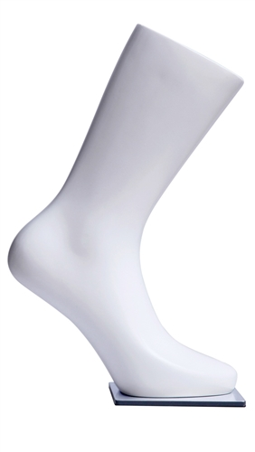 Glossy White Male Foot Display