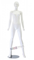 Shiny White Retro Abstract Female Mannequin