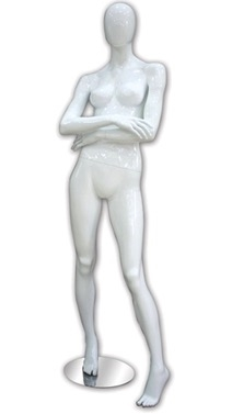 Glossy Female Mannequin in Pink, White, Black, Light Blue or Gray from www.zingdisplay.com