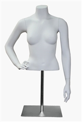 Photo: Female Mannequin Form | Half Torso Female Headless Display Form with Arms