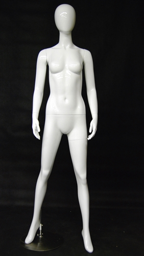 Egghead Mannequin Female in Glossy White