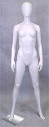 Female Egghead Mannequin in White