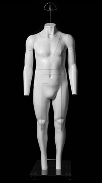 Plus Size Headless Male Ghost Mannequin. Ghost mannequin allows you to display or photograph your clothes without the mannequin getting in the way.