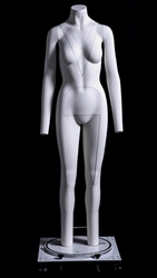 Mannequin has removable parts for unique displays.  Removable parts are also helpful if you are photographing your displays; the mannequin won't distract from your image.