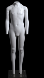 Mannequin Ghost Matte White Child Headless