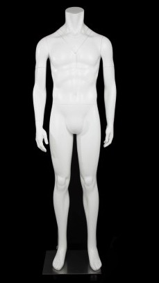 Matte White Male Full Body Ghost Mannequin from www.zingdisplay.com