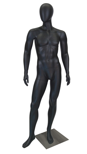 Egghead Male Mannequin with a satin black finish.