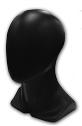 Black Female Display Head with Egghead. Choice of black or white finish.