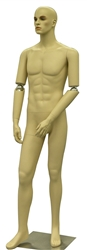 Tan Flexible Elbow Male Mannequin
