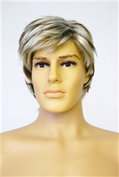 Male Mannequin Wig Short Dirty Blond Hair