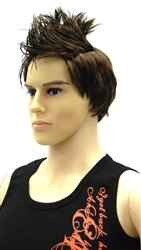 Male Mannequin Wig Short Brown Hair
