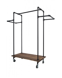 Black H Rack with Wood Base