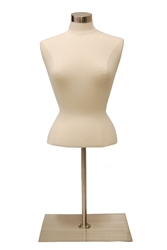 Female Upper Torso Dress Form with base - Size Medium