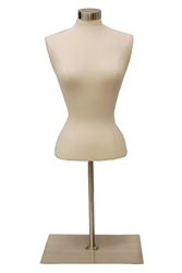 Female Upper Torso Dress Form with base - Size Small