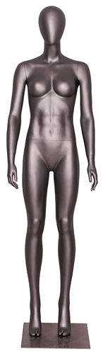 Matte Grey Egghead Grey Female Mannequin.