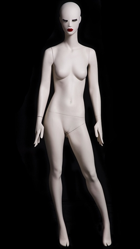 Abstract Female Mannequin with Classic Makeup - Left Leg Out
