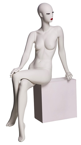 Abstract Female Mannequin with Classic Makeup - Leaned Back Seated Pose