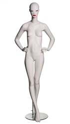 Abstract Female Mannequin with Classic Makeup - Hands on Hips