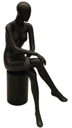 Black Matte Female Egghead in Sitting Pose from www.zingdisplay.com