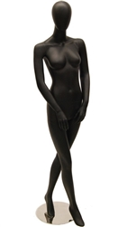 Black Matte Female Mannequin with Egghead