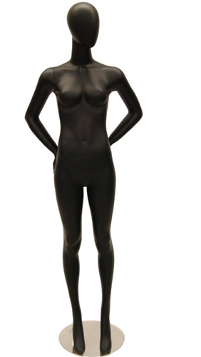 Egghead Female Mannequin in Black Matte