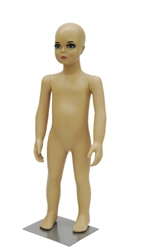 1 year old toddler in standing pose. Unisex toddler with realistic facial features.