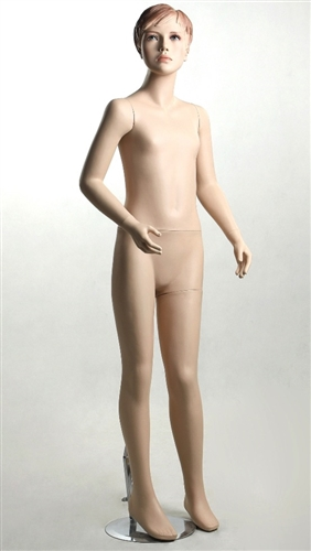 Female Teenage Mannequin with Molded Hair and Realistic Facial Features
