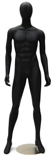 Egghead Male Mannequin with a matte black finish.