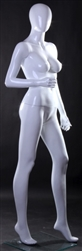 Female Egghead Mannequin in Glossy White
