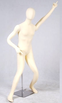 Jersey Covered Fully Posable Male Mannequin in Tan