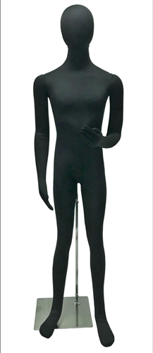 Jersey Covered Fully Posable Male Mannequin in black