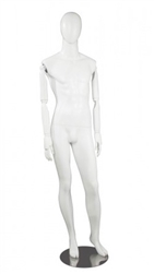 Matte White Male Egghead Mannequin Posable Arms Leg Out