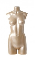 Shiny Oyster 3/4 Female Mannequin Torso Display