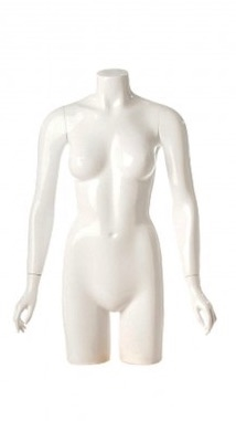 Shiny Pearl 3/4 Torso Female Mannequin with Arms