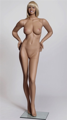 Big Breasted Sexy Realistic Female Flesh Tone Mannequin