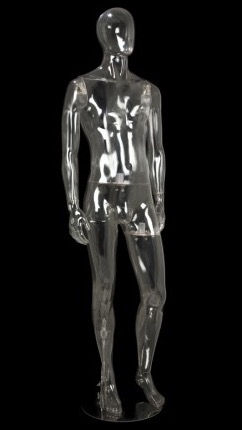 Clear Translucent Male Egghead Mannequin