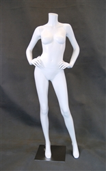 Headless Female Mannequin in Glossy White