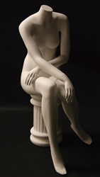 Seated Headless Female Mannequin from www.zingdisplay.com