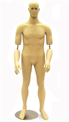 Male Mannequin with Flexible Elbows - Fleshtone