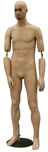 Male Mannequin with Flexible Elbows