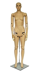 Fully Posable female Mannequin in Fiberglass