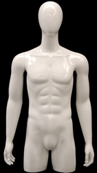 Male Torso Display Form in Glossy White from www.zingdisplay.com